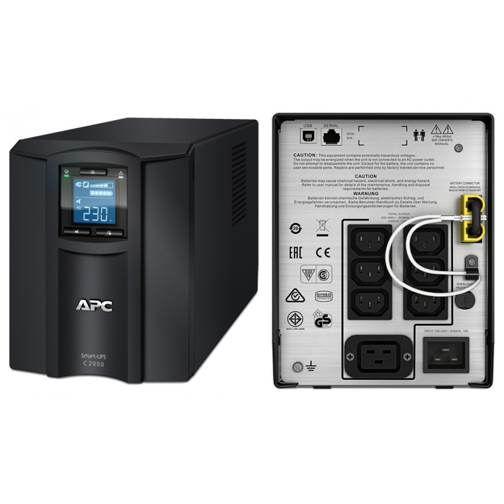 ИБП APC by Schneider Electric Smart-UPS C 2000VA LCD  SMC2000I